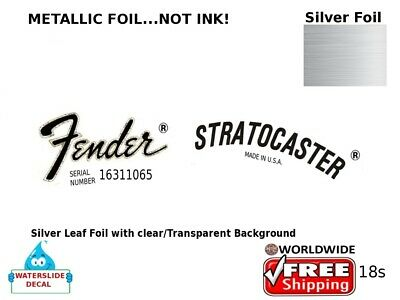 Fender Stratocaster Guitar Decal Headstock Sticker Inlay Decal Restoration 18s