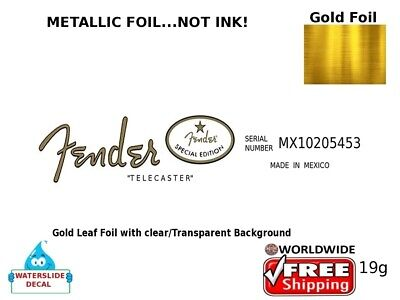 Fender Telecaster Guitar Decal Headstock Sticker Inlay Decal Restoration 19g