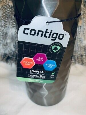 Contigo 20 oz. Snapseal Kenton Stainless Steel Travel Mug