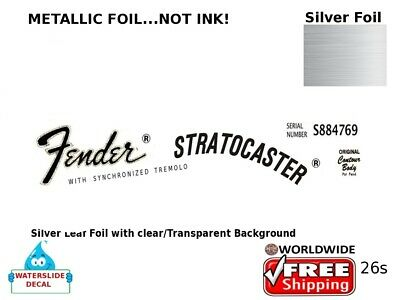 Fender Stratocaster Guitar Decal Headstock Sticker Inlay Decal Restoration 26s
