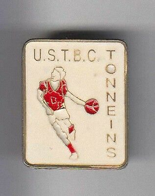 Rare Pins Pin's .. Sport Basket Ball Club Tbc Tonneins 47 ~Aq