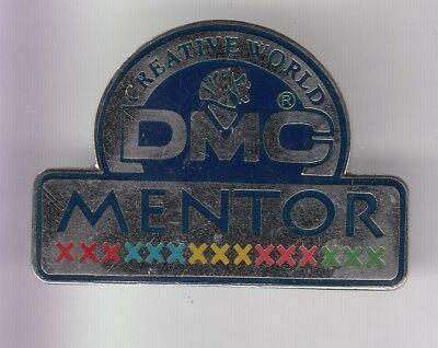 Rare Pins Pin's .. Entreprise Couture Sewing Tricot Fil Art Dmc Mentor Big 3D~D2