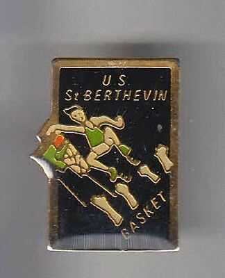 Rare Pins Pin's .. Sport Basket Ball Club Us Berthevin 53 ~Aq