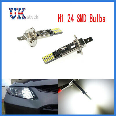 1-5Pcs White Auto H1 6500K 24-SMD 4014 Driving DRL Lamp LED Bulb Car Fog Lights