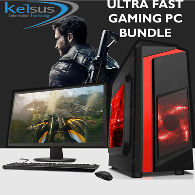Ultra Fast Gaming PC Bundle Intel Core i5 8GB 1TB HDD GTX 1650 Windows 10 WIFI