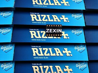 RIZLA BLUE KING SIZE SLIM ROLLING PAPERS -The Genuine Refined Smoking Experience