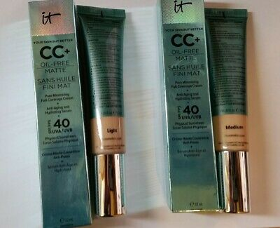 It Cosmetics CC+ Oil-Free Poreless Finish Full Coverage Cream & Anti Aging 32ml