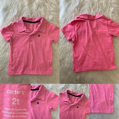 Carters 2T Boy Pink Spring Polo