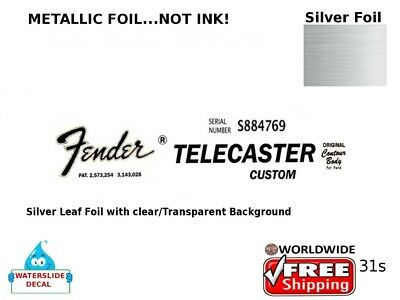 Fender Telecaster Custom Guitar Decal Headstock Sticker Decal Restoration 31s