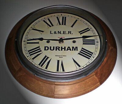 LNER London & North Eastern Railway Style Durham Station / Waiting Room Clock