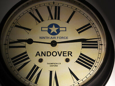USAAF Style, RAF Andover, Souvenir Vintage Style Wall Clock, WW2 Ninth Air Force