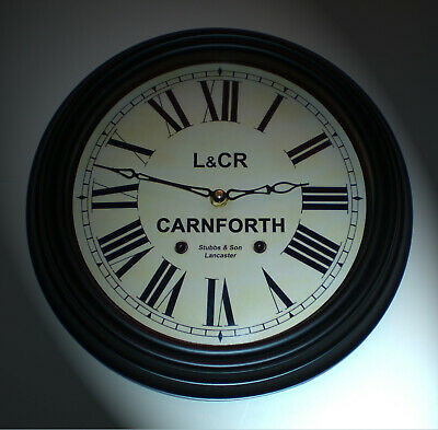 Lancaster and Carlisle Railway Styled Waiting Room Clock, Carnforth Station