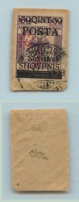 Albania 1919 SC 96 used cover cut signed . d6862