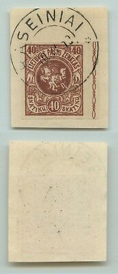 Lithuania 1919 SC 44 used cover cut . d4651