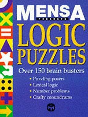 Mensa Logic Puzzles by Philip Carter-ExLibrary