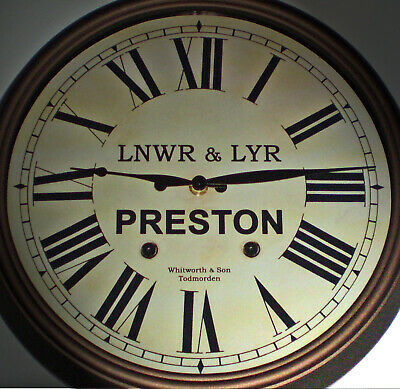 LNWR & LYR Styled Station / Waiting Room Wall Clock, Preston Station