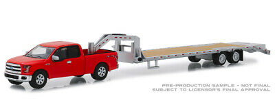 Greenlight Ford F150 2017 Red with Gooseneck 32151 1/64