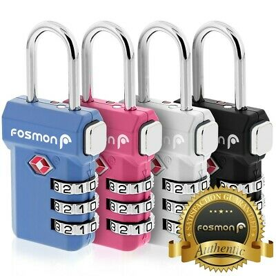 4 TSA Approve 3 Digit Combination Travel Suitcase Luggage Lock Bag Padlock Reset