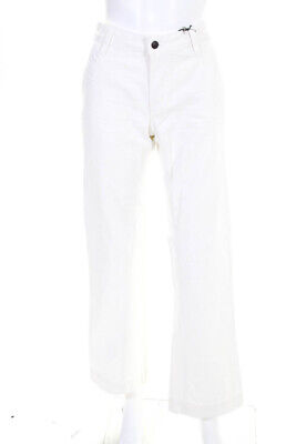 16a0b6e0 6397 WOMENS COTTON Denim Wide Leg Mid Rise Tommy Jeans White Size 26 ...
