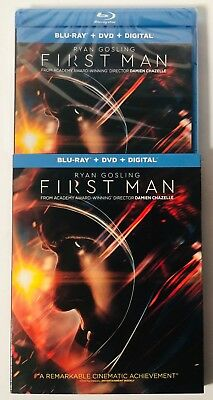 First Man (Blu-ray+DVD+Digital) BRAND NEW FACTORY SEALED
