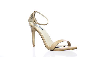 e9e2b6479ca NEW STEVE MADDEN Womens Stecy Natural Ankle Strap Heels Size 8.5 ...