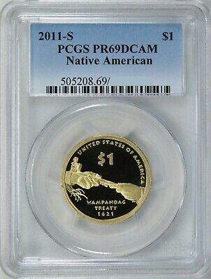 2011-S Sacagawea Native American Proof Dollar $1 Pcgs Pr69Dcam