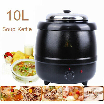 Commercial Electric Soup Warmer Pot Kettle Restaurant Stainless Steel Insert 10L