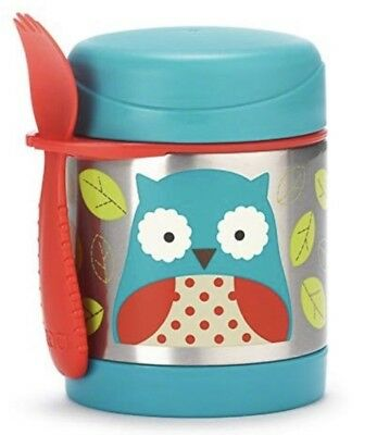 Skip Hop Baby Zoo Little Kid and Toddler Insulated Food Jar & Spork set Otis Owl