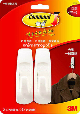 3M COMMAND General Damage-Free Hanging Hook Series New (Max. load/strip=2.25kg)