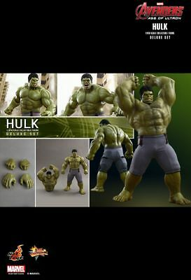 HOT TOYS 1/6 MARVEL AVENGERS MMS287 HULK DELUXE SET 42CM TALL ACRION FIGURE New