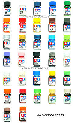 O Tamiya Enamel Color 80001-80028 X-1 to X-34 Gloss Model Kit Paint 10ml 田宮 タミヤ