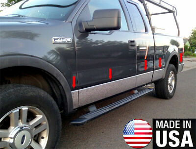 2009-2014 Ford F-150 Super//Extended Cab 6.5/' Short Bed N//F Rocker Panel Trim 7/""