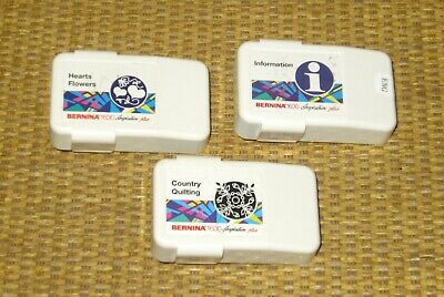 Bernina 1630   Country Quilting, Hearts/Flowers, Information/Help KEY Cards