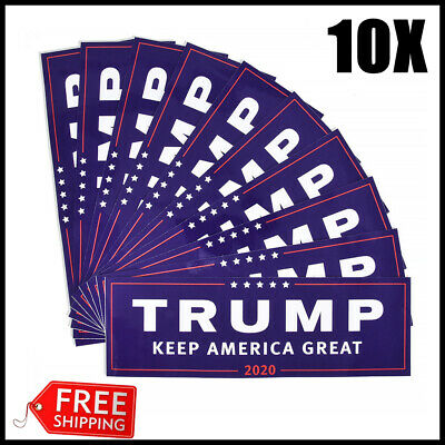 10X Donald Trump for President Keep America Great 2020 Bumper Sticker Blue