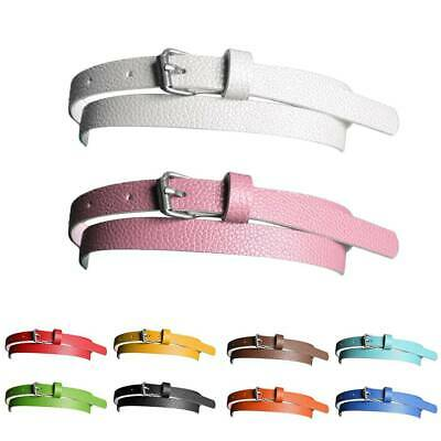 Belt Narrow Thin Leather Belt Women Accessories 10 Candy Colors Metal Buckle