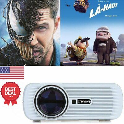 HD 1080P LED Home Theater Projector Party Photo Cartoon Film VGA USB Phone  Gift