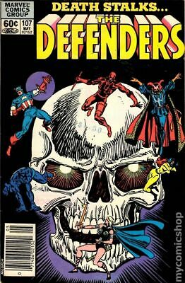 Defenders (1st Series) Mark Jewelers #107MJ 1982 VG Stock Image Low Grade