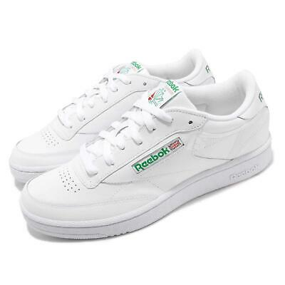 96075ac79 Reebok Club C 85 White Green Men Classic Casual Lifestyle Shoes Sneakers  AR0456