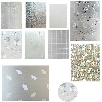 Removable Privacy Glass Decor Frosted Window Film Static Cling Frosting Sticker