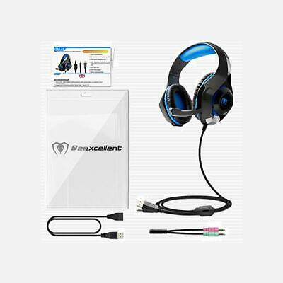Beexcellent Gaming Headset Für Ps4 Pc Xbox One, Led Licht Crystal Clarity Sound