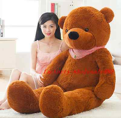 72'' Giant Huge Stuffed Brown Sleepy Teddy Bear Animal Doll Plush Soft Toy Gift
