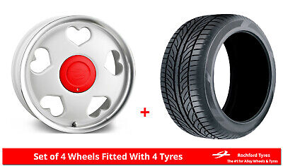 """Alloy Wheels & Tyres 16"""" Tansy Love For Ford Transit Courier 14-19"""