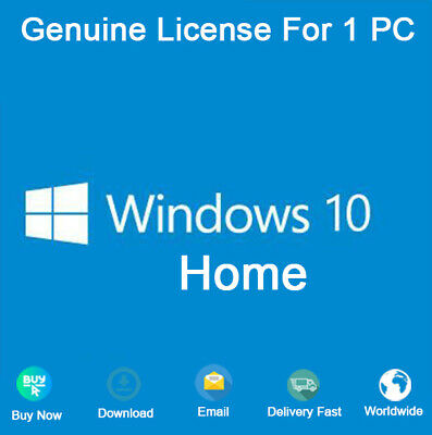 Windows 10 Home 32&64 bit Activation Key Genuine