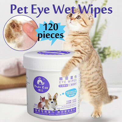120X Pet Hygiene Dog Puppy Cat Cleaning Wet Wipes Ear Eye Stain Grooming Towel ☆