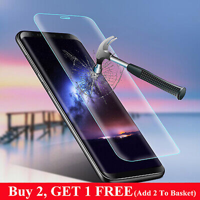 For Samsung Galaxy S10/S10 Plus S9 S8 Clear Tempered Glass Screen Protector Film