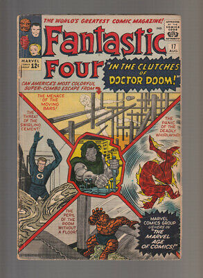 Fantastic Four # 17  In the Clutches of Doctor Doom !  grade 3.5 scarce book !