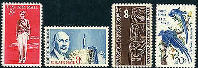 US Scott #C68 C69 C70 & C71 (1963-1967 Airmail)  SET of 4  MNH ****FREE SHIP****