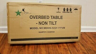 New Open Adjustable Wooden Over Bedside Home Hospital Serving Tray Table Rolling