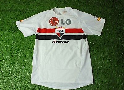83b49c63bb1 Sao Paulo Brazil # 9 2004/2005 Rare Football Shirt Jersey Home Topper  Original