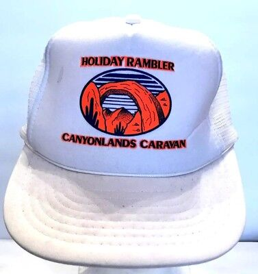 Vtg Holiday Rambler Canyonlands Caravan Music  Snapback Trucker Hat Foam